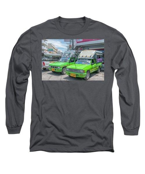 Long Sleeve T-Shirt featuring the photograph Songthaew Taxi by Antony McAulay