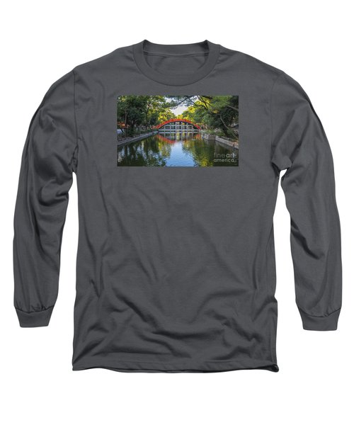 Long Sleeve T-Shirt featuring the photograph Sorihashi Bridge In Osaka by Pravine Chester