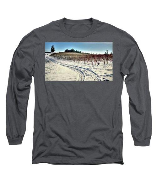 Soter Vineyard Winter Long Sleeve T-Shirt by Jerry Sodorff