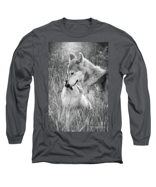 Soul Mates Black And White Long Sleeve T-Shirt