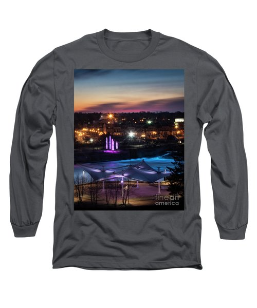 South Bend River Sunrise Long Sleeve T-Shirt by Brian Jones
