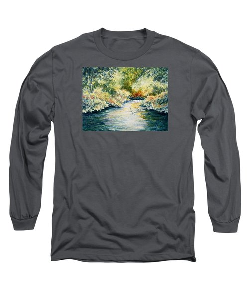 Long Sleeve T-Shirt featuring the painting South Branch Of The Little Wolf by Carolyn Rosenberger