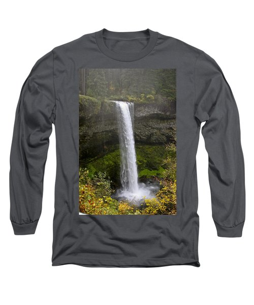 South Falls Of Silver Creek II Long Sleeve T-Shirt