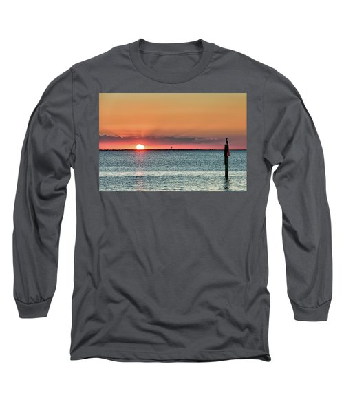 South Padre Island Sunset Long Sleeve T-Shirt