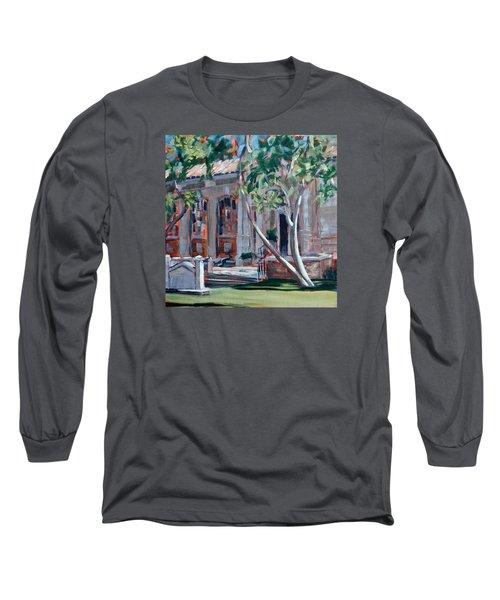 South Pasadena Library Long Sleeve T-Shirt by Richard Willson