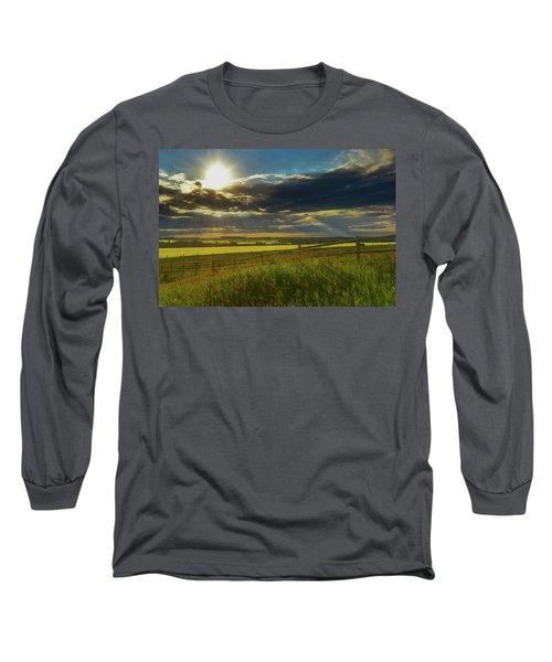 Southern Alberta Crop Land Long Sleeve T-Shirt