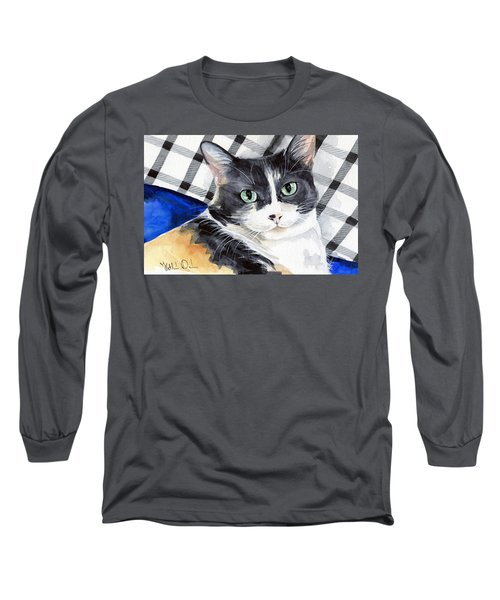 Southpaw - Calico Cat Portrait Long Sleeve T-Shirt