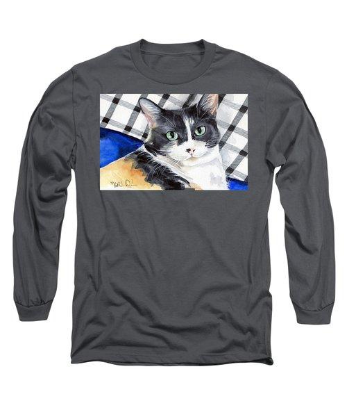 Southpaw - Calico Cat Portrait Long Sleeve T-Shirt