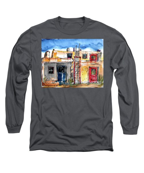 Long Sleeve T-Shirt featuring the painting Southwestern Home by Terry Banderas