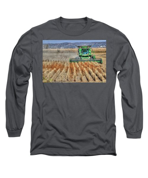 Soybean Harvest Fremont County Iowa Long Sleeve T-Shirt