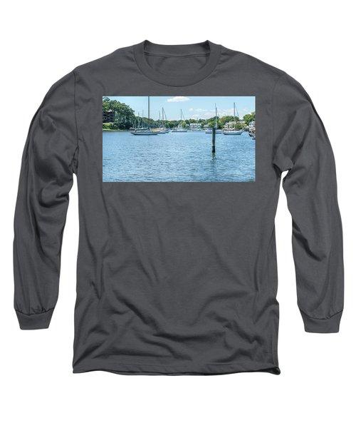 Spa Creek In Blue Long Sleeve T-Shirt