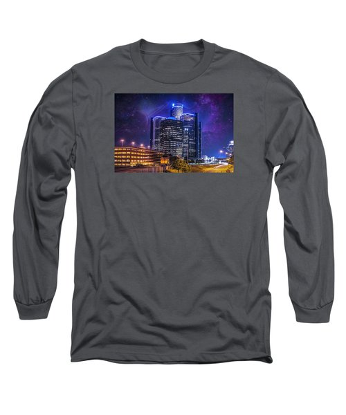 Long Sleeve T-Shirt featuring the photograph Space Detroit by Nicholas  Grunas