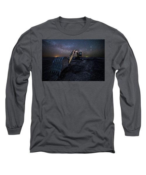 Long Sleeve T-Shirt featuring the photograph Space Excavator  by Aaron J Groen
