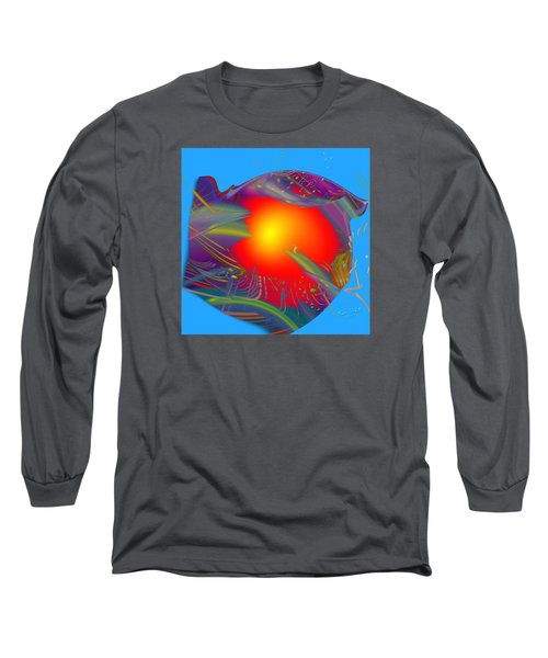 Space Fabric Long Sleeve T-Shirt by Kevin Caudill