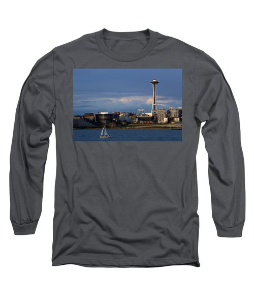 Long Sleeve T-Shirt featuring the photograph Space Needle by Evgeny Vasenev