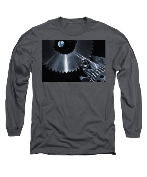 Space Technology And Titanium Parts Long Sleeve T-Shirt by Christian Lagereek