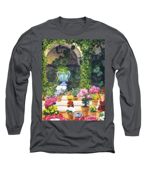 Spanish Courtyard Long Sleeve T-Shirt