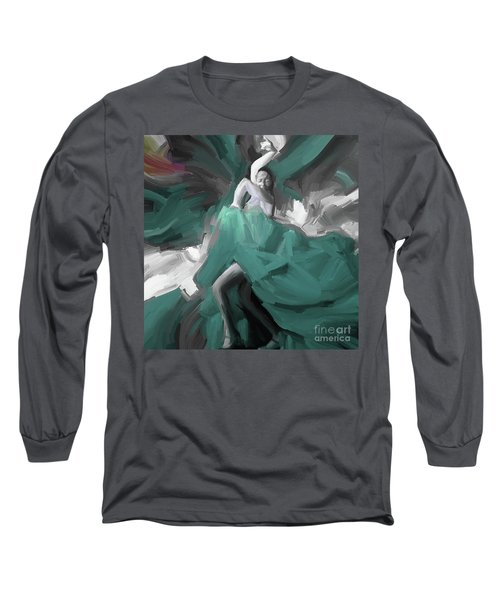 Long Sleeve T-Shirt featuring the painting Spanish Dance Art 56yt by Gull G