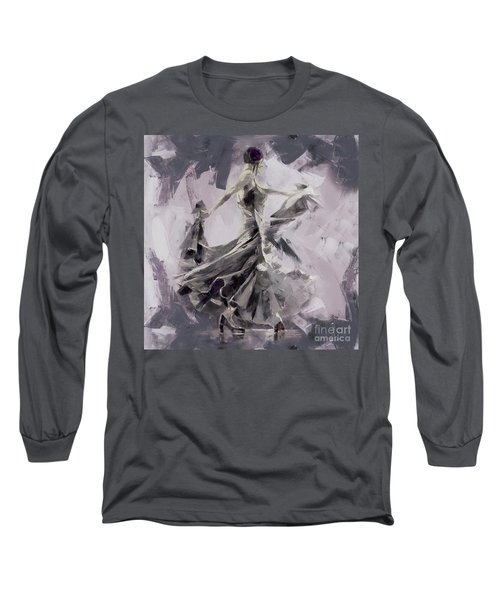 Long Sleeve T-Shirt featuring the painting Spanish Dance Painting 03 by Gull G