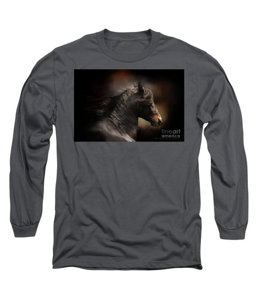 Spanish Stallion Long Sleeve T-Shirt by Kathy Russell