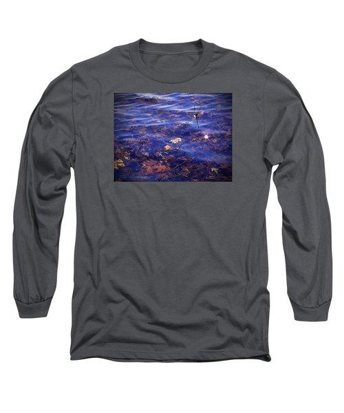 Sparkling Shore Long Sleeve T-Shirt by Cedric Hampton