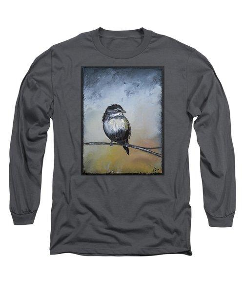 Sparrow Long Sleeve T-Shirt by Carolyn Doe