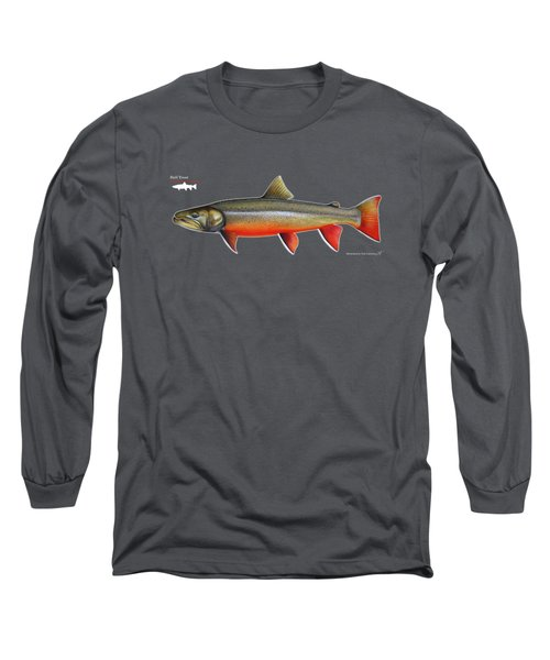 Spawning Bull Trout And Kokanee Salmon Long Sleeve T-Shirt by Nick Laferriere