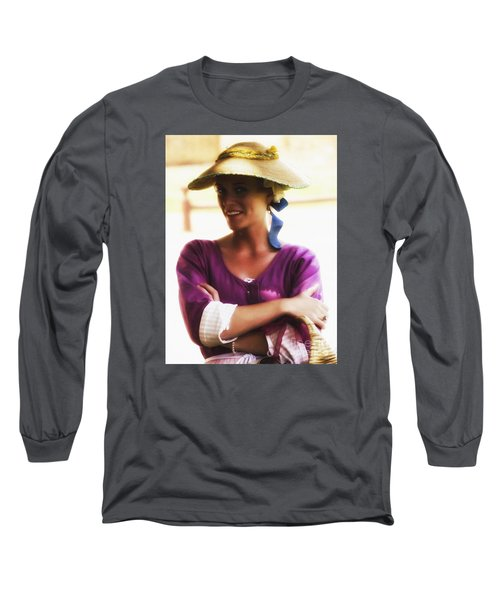 Speaking With Her Eyes  ... Long Sleeve T-Shirt by Chuck Caramella