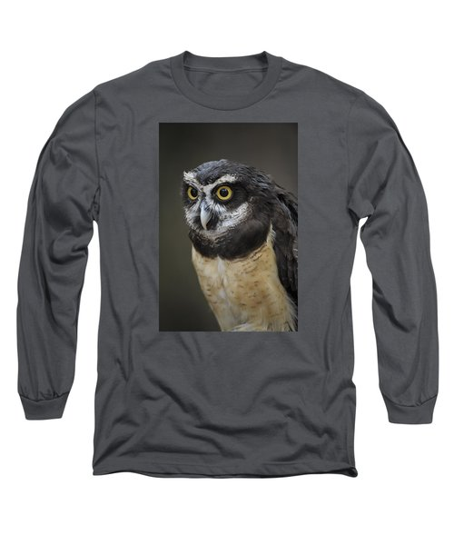 Long Sleeve T-Shirt featuring the photograph Spectacled Owl by Tyson and Kathy Smith