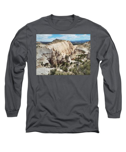 Spectacular Slot Canyon Trail View-at-the-top Long Sleeve T-Shirt by Cindy Croal