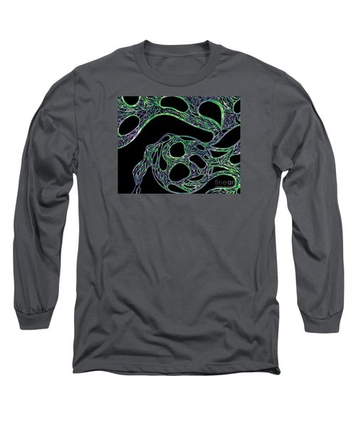 Long Sleeve T-Shirt featuring the drawing Sphere Night by Jamie Lynn