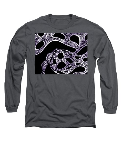 Sphere Night Light Long Sleeve T-Shirt by Jamie Lynn