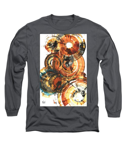 Long Sleeve T-Shirt featuring the painting Sphere Series 1022.050212 by Kris Haas