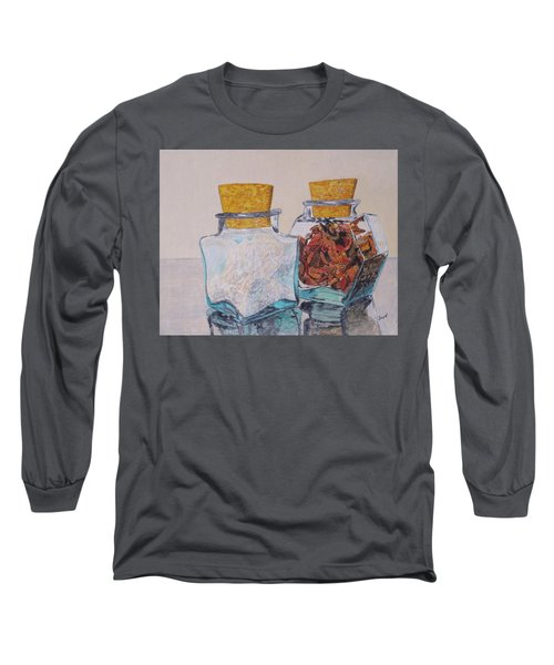 Long Sleeve T-Shirt featuring the painting Spice Jars by Hilda and Jose Garrancho