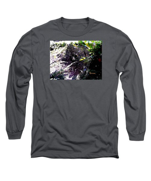 Long Sleeve T-Shirt featuring the photograph Spider And Web 2 by Sadie Reneau
