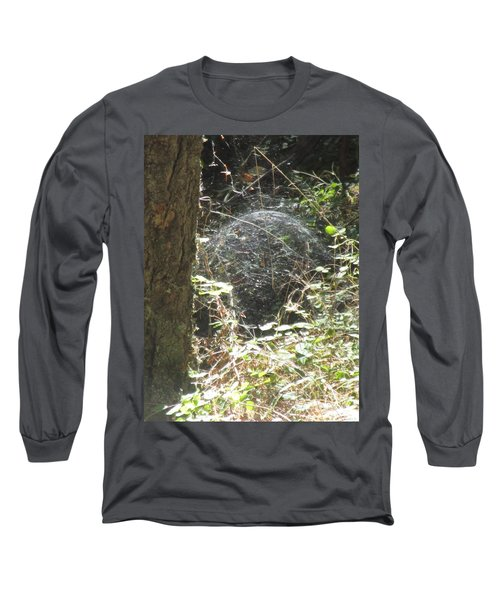 Long Sleeve T-Shirt featuring the photograph Spider Dome by Marie Neder