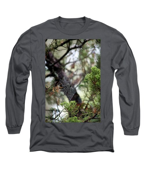 Spider Web In Tree Long Sleeve T-Shirt