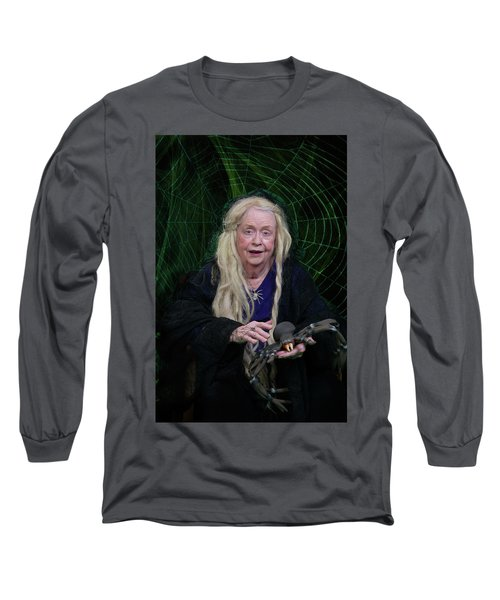 Spider Woman Long Sleeve T-Shirt by David Clanton