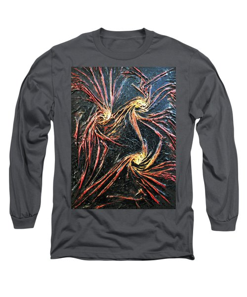 Long Sleeve T-Shirt featuring the mixed media Spinning by Angela Stout