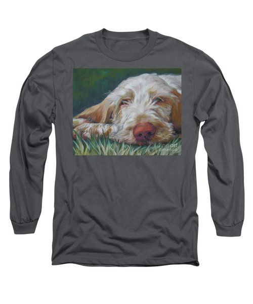 Spinone Italiano Orange Long Sleeve T-Shirt by Lee Ann Shepard
