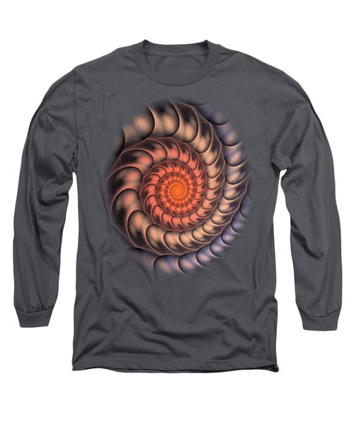 Spiral Shell Long Sleeve T-Shirt by Anastasiya Malakhova