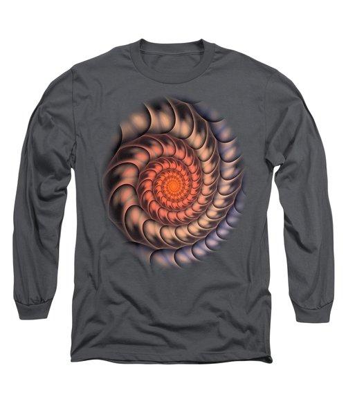 Long Sleeve T-Shirt featuring the digital art Spiral Shell by Anastasiya Malakhova