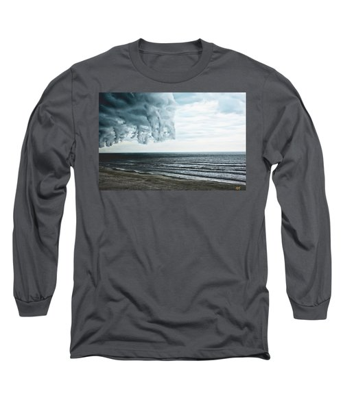Spiraling Storm Clouds Over Daytona Beach, Florida Long Sleeve T-Shirt