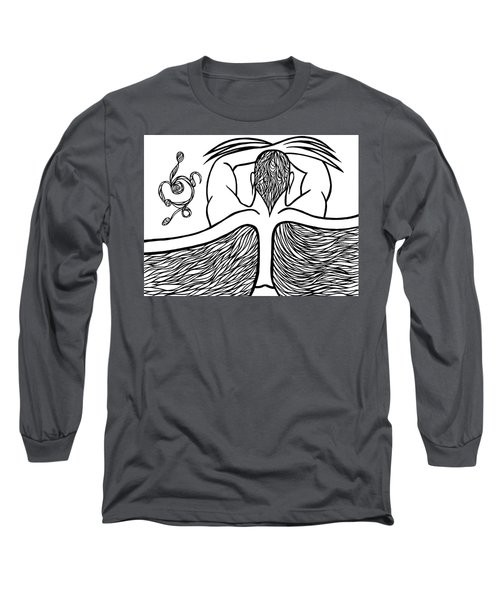 Long Sleeve T-Shirt featuring the drawing Spirit by Jamie Lynn