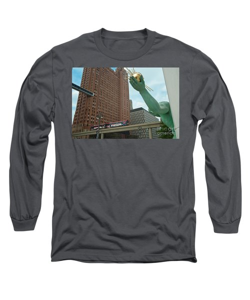 Spirit Of Detroit And People Mover Long Sleeve T-Shirt