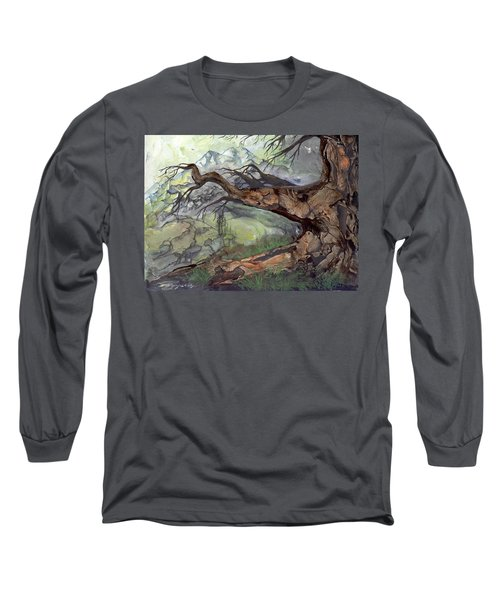 Long Sleeve T-Shirt featuring the painting Spirit Tree by Sherry Shipley