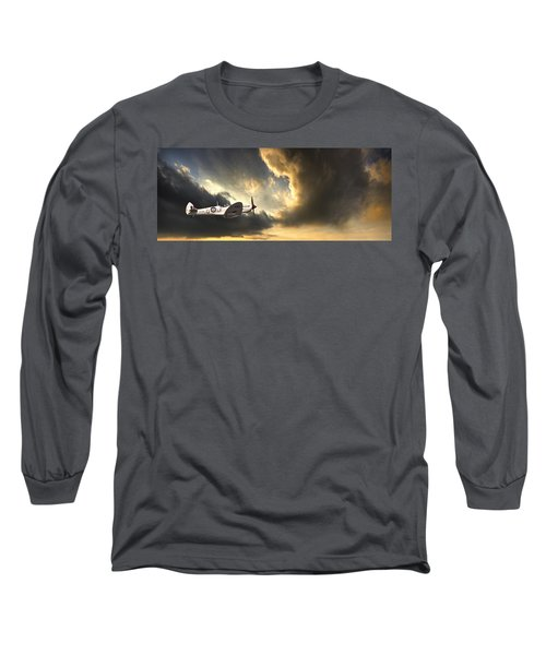 Spitfire Long Sleeve T-Shirt by Meirion Matthias