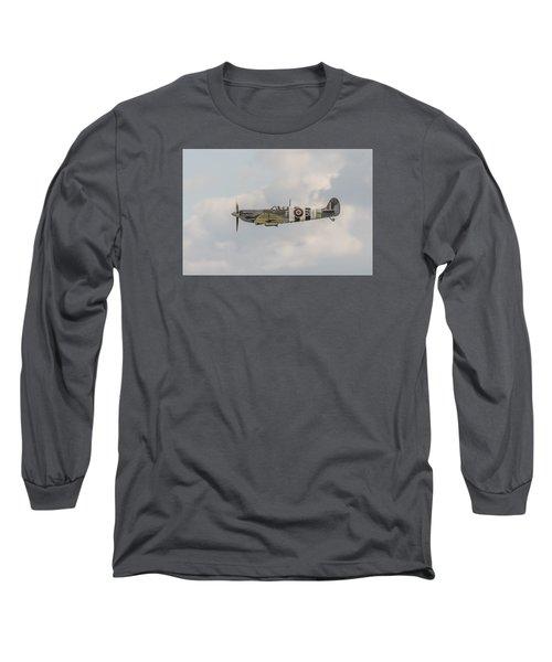 Spitfire Mk Vb Long Sleeve T-Shirt by Gary Eason