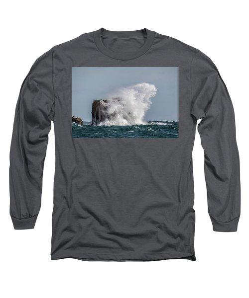 Long Sleeve T-Shirt featuring the photograph Splash by Paul Freidlund