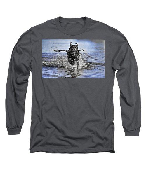 Long Sleeve T-Shirt featuring the photograph Splashing Fun by Chris Cousins